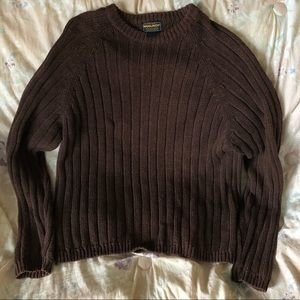 Woolrich Men's Mustang Brown Cable Knit Sweater L